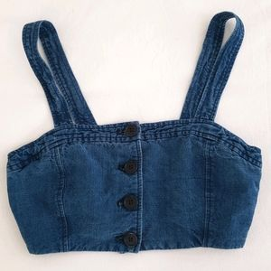 Aritzia Wilfred Tournis denim bra top size XXS